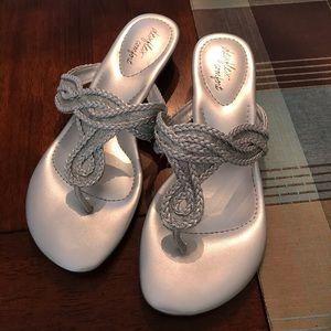 Dexflex Comfort, Silver Sandal, size 6W
